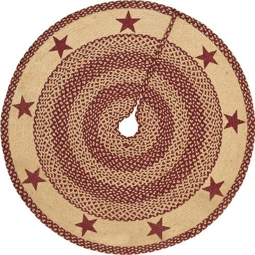 Braided Quilt Pattern (Jute Stencil Star Tree Skirt)