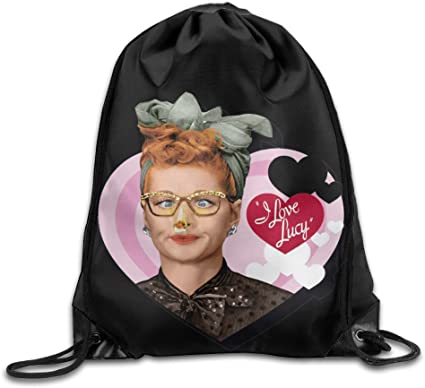 Pink Breast Cancer Awareness Drawstring Bag 14.15 x 17.3