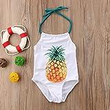 Toddler Baby Girls One Piece Swimsuit Halter Neck