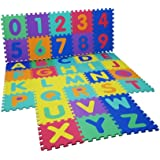 NEW LARGE SIZE 40 PC FOAM ALPHABET CHILDREN SOFT JIGSAW PUZZLE PLAY LEARNING MAT NUMBERS