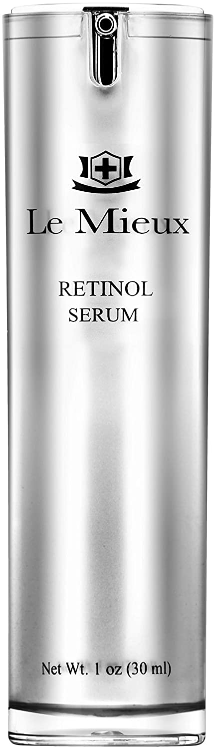 Le Mieux Retinol Serum - 0.5% Retinol & Peptide Serum for Face to Improve Texture & Radiance, No Parabens or Sulfates (1 oz / 30 ml)