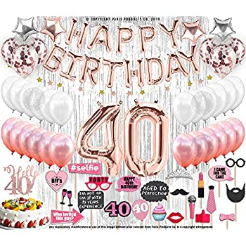 40th Birthday Decorations With Photo Props Party Supplies Balloons