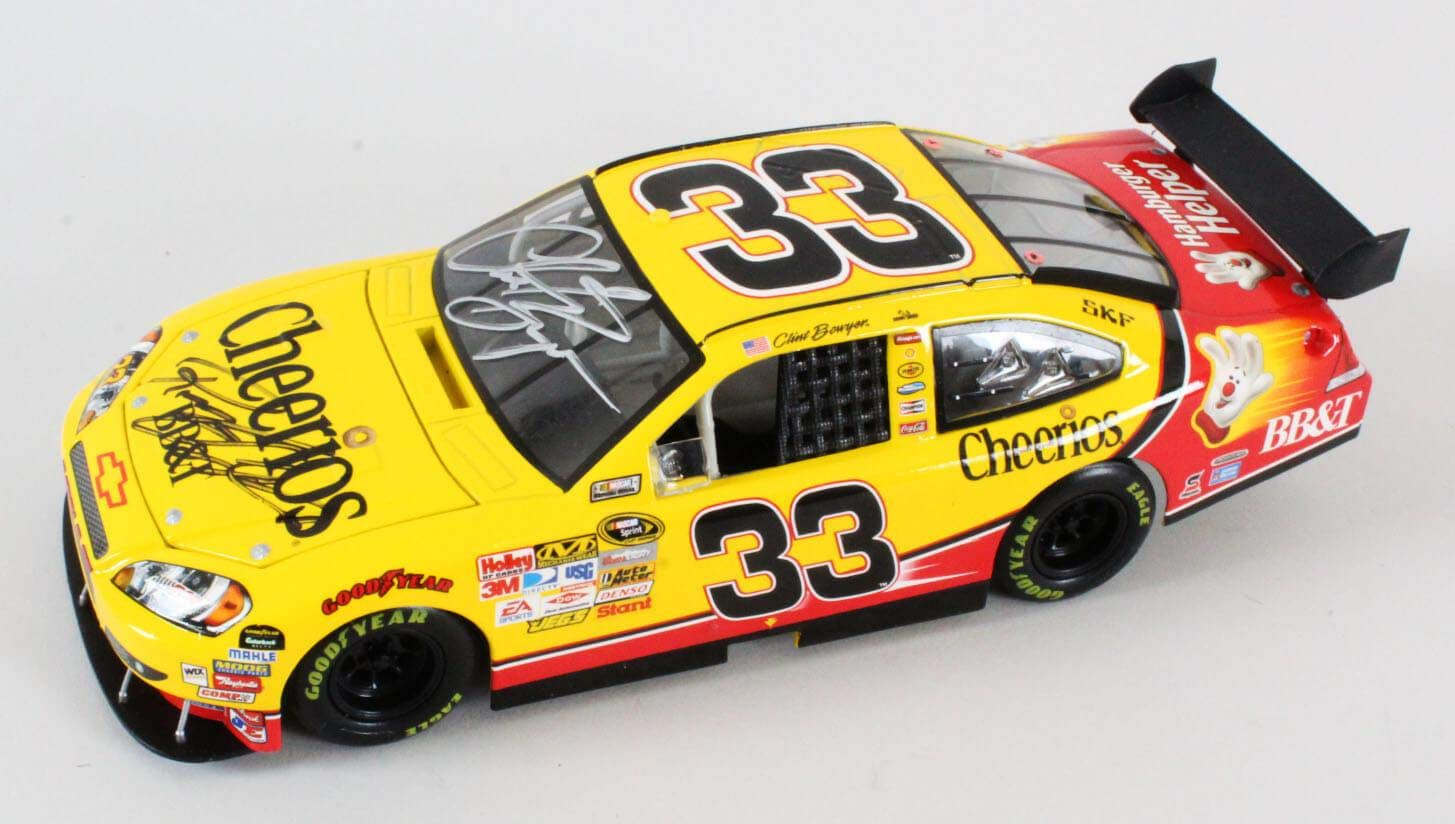 Clint Bowyer Signed Die Cast Car w/Richard Childress COA JSA Certified Autographed Diecast Cars