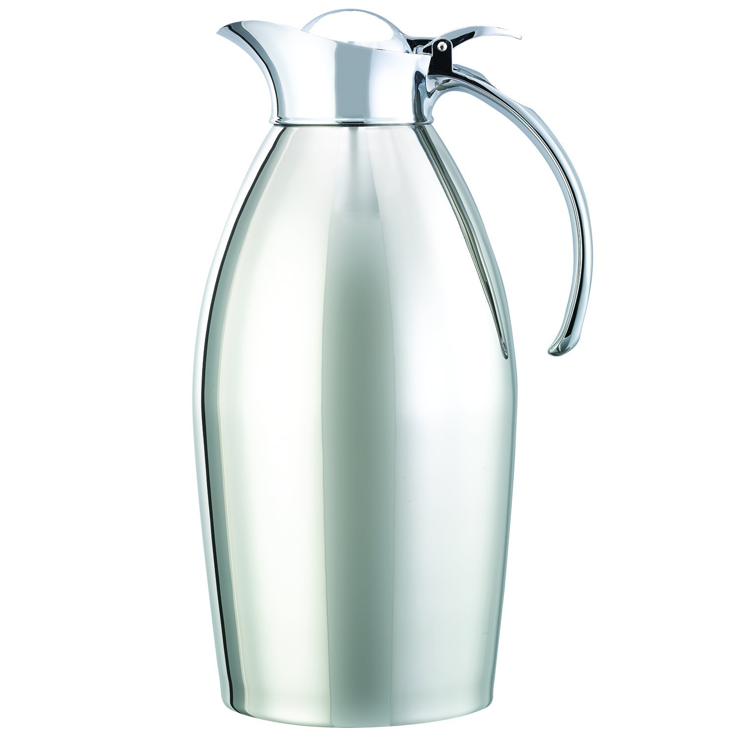 Service Ideas 98115PS Carafe, Stainless Steel, Chrome Plated, 1.5 L