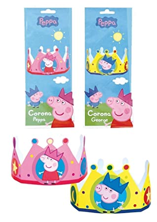 peppa pig u0026 george cardboard hat crowns birthday party table favours dress up 1