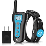 PATPET Dog Shock Collar with Remote, Rechargeable Electric Dog Training Collar with Beep, Vibration & Shock Models, Up to 120