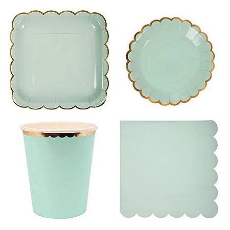 Platos de papel desechables vajilla de platos para ...
