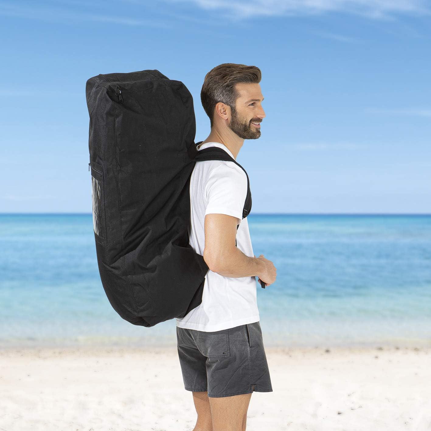 Incluye bolsa de transporte con una pr/áctica asa de transporte Tabla de padel de pie Necesito vitaminas del mar o Mi playa privada de primera calidad juego de reparaci/ón y bomba de doble golpe