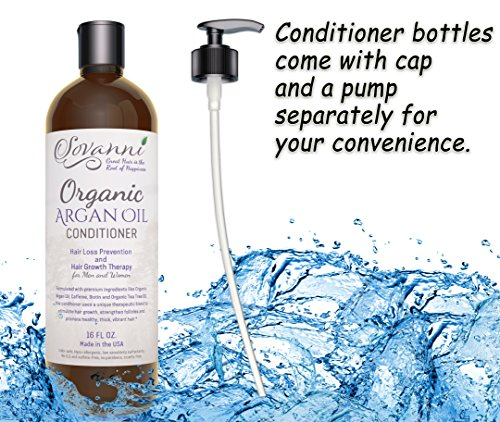 Amazon.com : Hair Loss Conditioner - Hair Growth Therapy Conditioner with Organic argan oil Tea Tree Oil Caffeine Keratin Biotin Saw Palmetto and other DHT ...