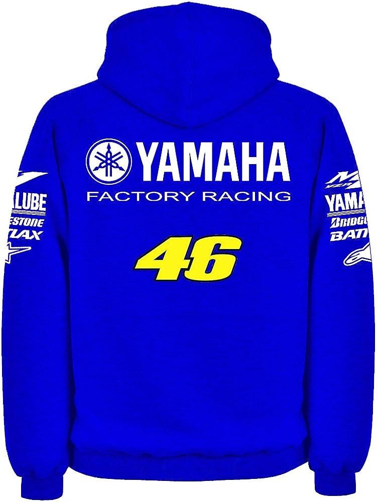 DPX-1 M1 YZR YZF R1 R6 Courses Sweat /À Capuche Valentino Rossi YOSHIMURA