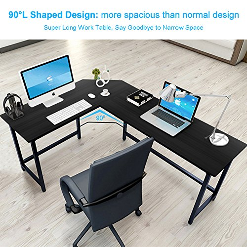 modern lshaped desk corner computer desk pc latop study table workstation home office wood