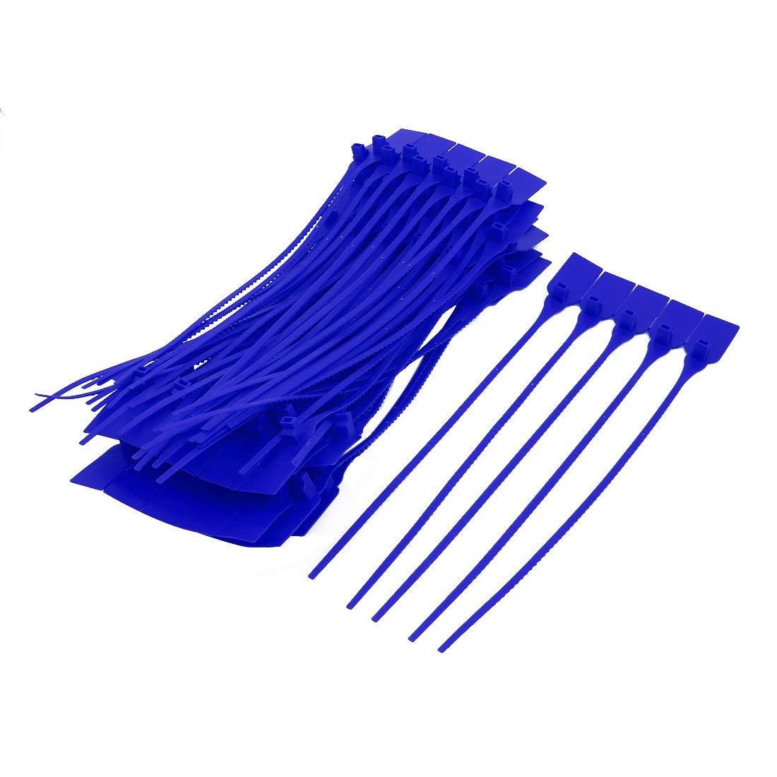 100 piezas Sujetacables de nailon cinchos autobloqueantes azul de ...
