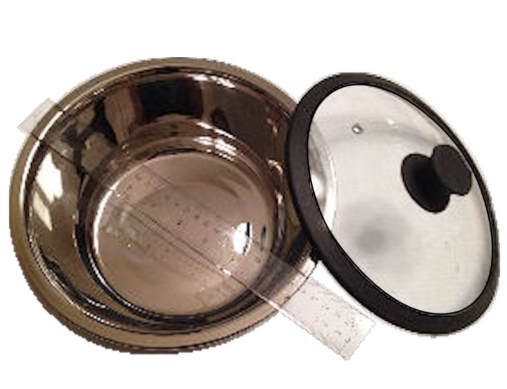 Haines Dutch Oven - 3-1/2 Qt. Stainless Steel Pot with Glass Lid