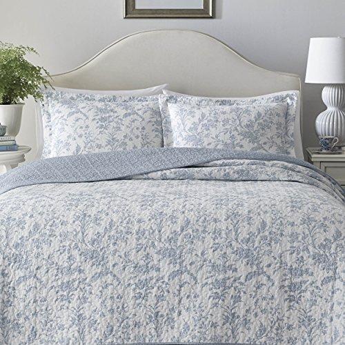 Floral Toile Patchwork Blue Super King Cotton Blend Reversible Duvet Cover Set Kids Teens Bedding Kids Teens Bedding Sets