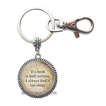 Si un libro está bien escrito llavero libro amante regalo ...