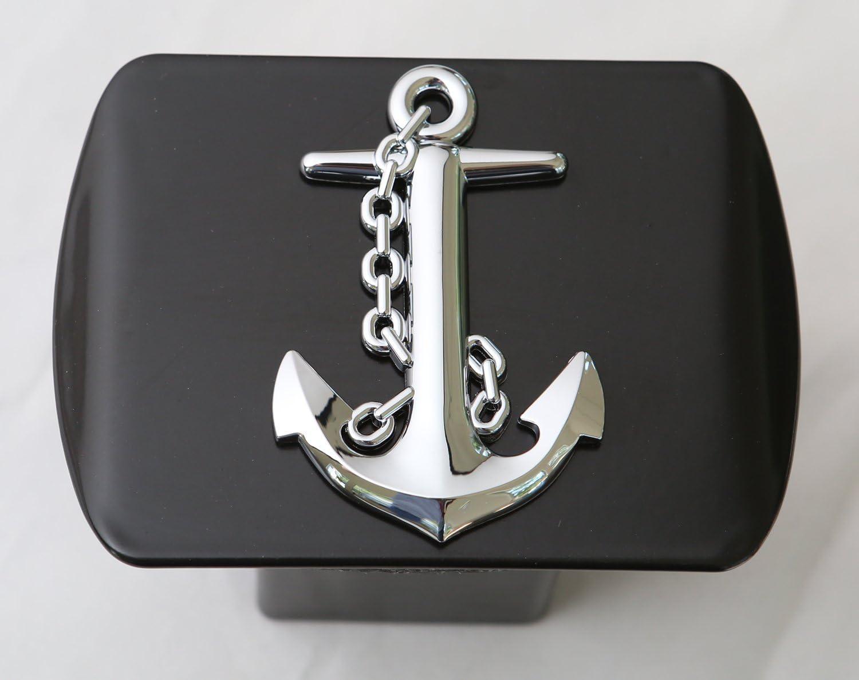 LFPartS 3D Emblem Metal Trailer Hitch Cover Fits 2 Receivers Navy Ship Anchor
