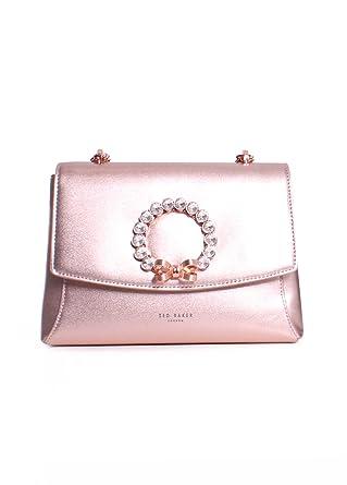 e1e7d8c6b Ted Baker London Pearlz Pearl Bow Embellished Crossbody Handbag in Rosegold   Amazon.co.uk  Clothing