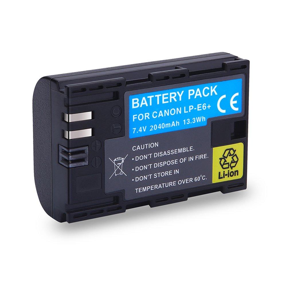 Funda de protección 5x Para Canon LP-E6 LPE6 Batería 5D Mark 3 5D 7D*GB II III
