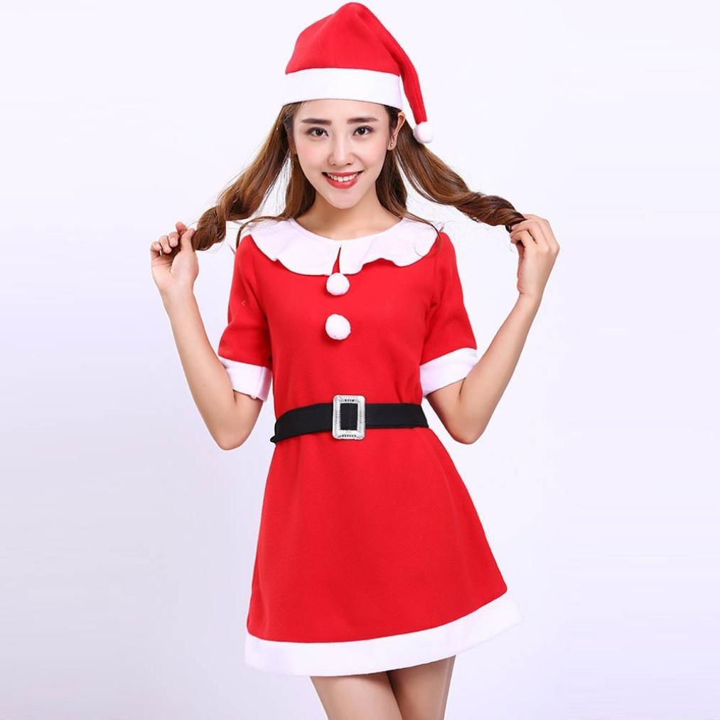 a25b2ea2284b Amazon.com: Keepfit Santa Girl Outfit, Christmas Costume Party ...
