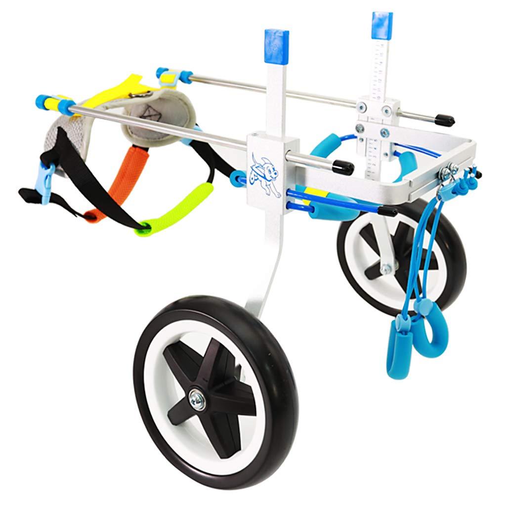 P Prettyia ドッグウォーカー 犬用 車椅子 お散歩 補助輪 老犬介護 ペット用 歩行器 調節可能 全4サイズ - M B07JM1D28H  S S