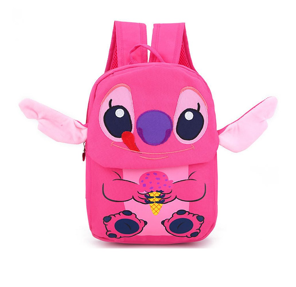 Amazon.com   YOUNELO Boy s Girl s Baby New Cute 3D Lilo   Stitch Canvas  School Bag Backpack Rucksack Travelling Bag (Rose Red)   Kids  Backpacks 7d8b13e044