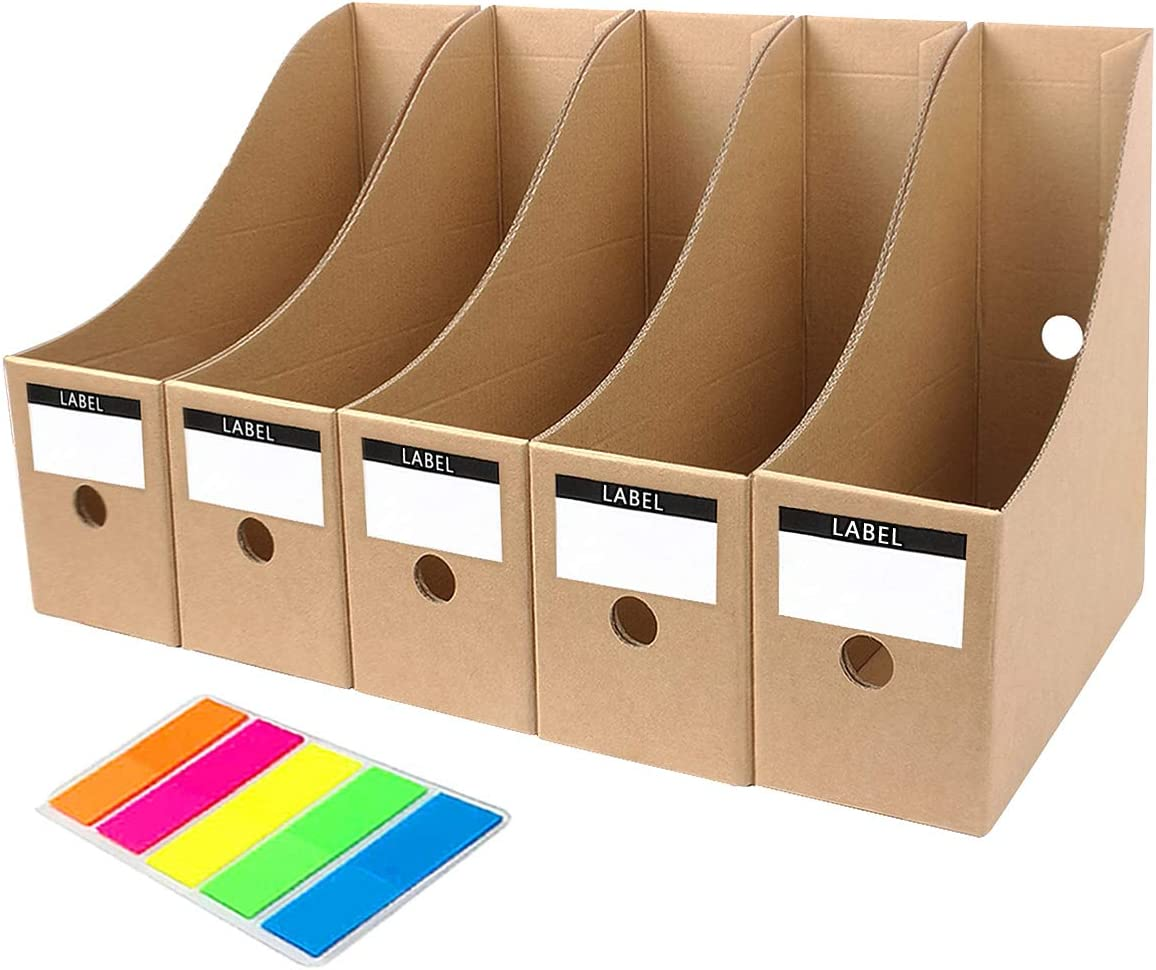 MYEUSSN File Magazine Holder Cardboard Magazine Book Rack Lever ...