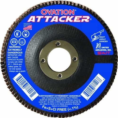 SAIT 76231 Ovation Attacker Flap Disc 10 Pack 5 x 7//8 Z 120x United Abrasives