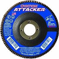 SAIT 76206 Ovation Attacker Flap Disc, 4-1/2 x 7/8 Z 40x, 10 Pack by United Abrasives, Inc.