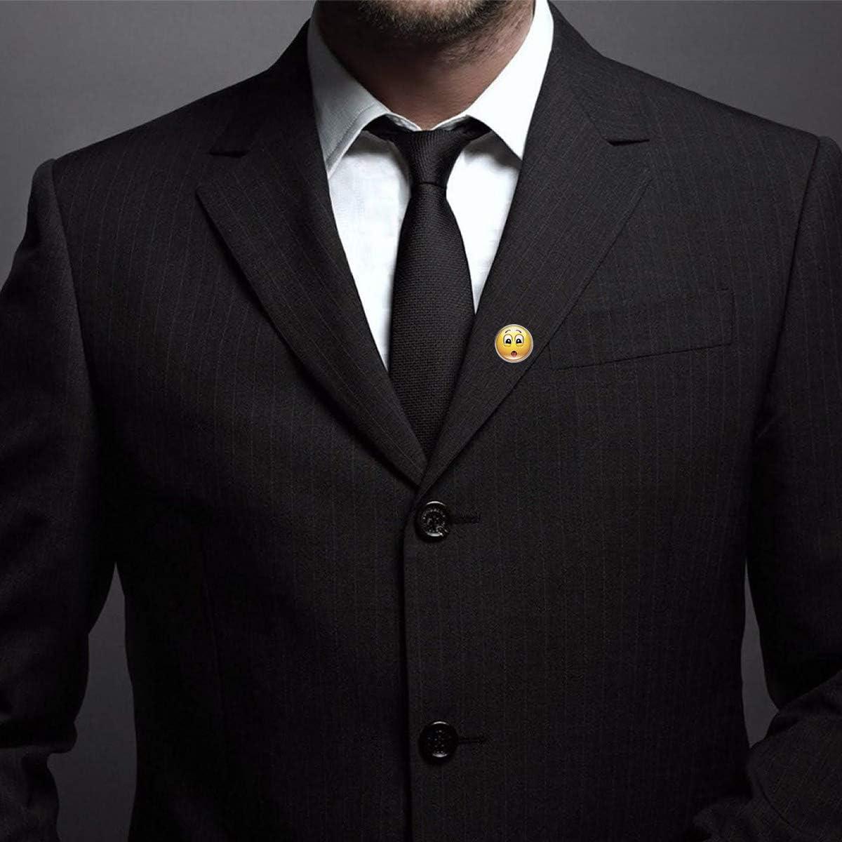 WAZZIT Round Metal Tie Tack Hat Lapel Pin Brooches Emoji Face Poor Sick Banquet Badge Enamel Pins Trendy Accessory Jacket T-Shirt