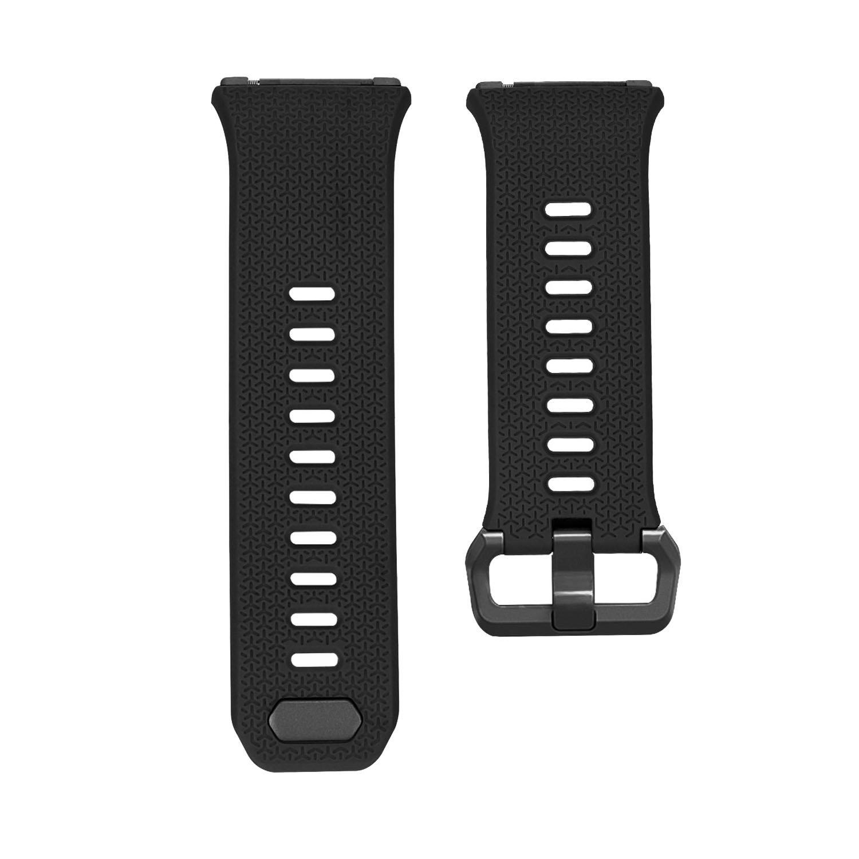 シリコン交換バンドスマートブレスレット腕時計手首バンドストラップAccessory for Fitbit Ionicスマート腕時計サイズLブラック  B078S4JPNN