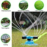 TOLOCO Garden Sprinkler, 360° Automatic Rotating