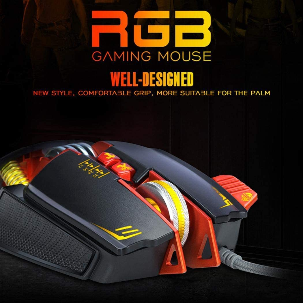 Tinffy Durable Strong USB Wired Gaming Mouse for Computer Games Mice
