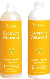 product image for Renpure Coconut and Vitamin E Hydrate + Replenish Hair Shampoo & Conditioner 16 fl oz Each