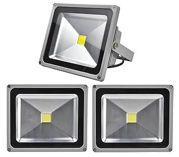 20W 50W LED Strahler Fluter IP65 Außen Flutlicht Leuchtmittel Scheinwerfer Kaltweiß Wandstrahler (3X 30W Kaltweiß)