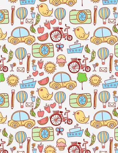 Price comparison product image Car Notebook: Boy Journal Notebook Ruled Lined Page Kids Girl Writing Book Diary School Colorful Road Vehicle Boat Bird Balloon Camera Pencil Sun ... Large 8.5 x 11 Inches Paperback) (Volume 2)