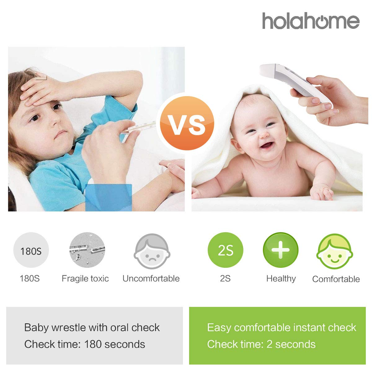 Amazon.com : Baby Thermometer Forehead Ear Thermometer - for Fever Upgrade Termometro Digital Medical Infrared Clinical Accurate Small Portable Infant ...