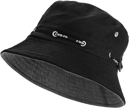 Cappello da Pesca ppello pescatora 56-58cmUnisex Tessuto morbido in cotone e Poliestere Protezione del Sole Boonie Hat per Escursionismo Campeggio In viaggio Pesca