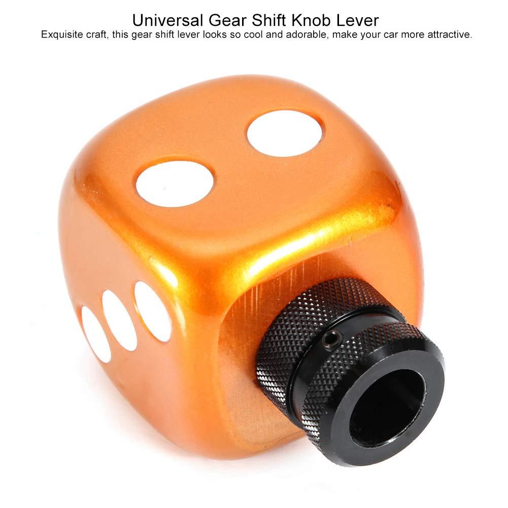 Cuque Universal Car Gear Shift Shifter Knob Modified Dice Style Automobile Head Handle Lever Auto Gear Shift Knob Head with 3 Hoses 8mm 10mm 12mm Red Gear Shift Knob