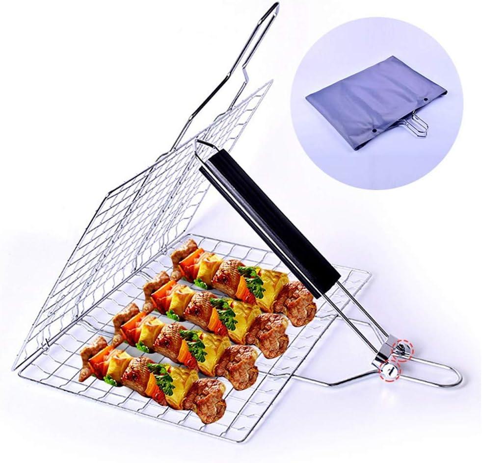 Ayanx Filet amovible en acier inoxydable pour barbecue Argenté
