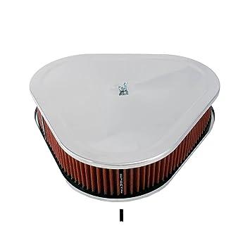 "14/"" x 3/"" chrome triangulaire Air Cleaner//Filtre"