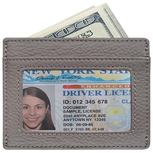 RFID Blocking Leather Wallet, Slim Thin Minimalist Pocket Wallets Card Holder (Crossbody Bag Built In Wallet)