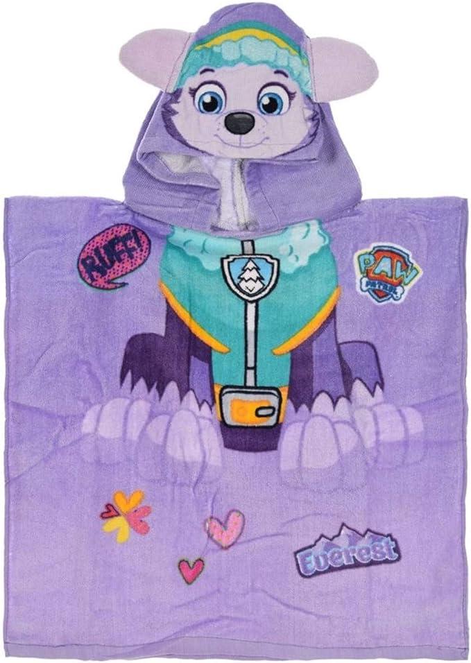 La Pat Patrouille Cape de Bain Capuche en 3D Enfant Fille Everest Violet TU 2-6ans - Violet Taille Unique