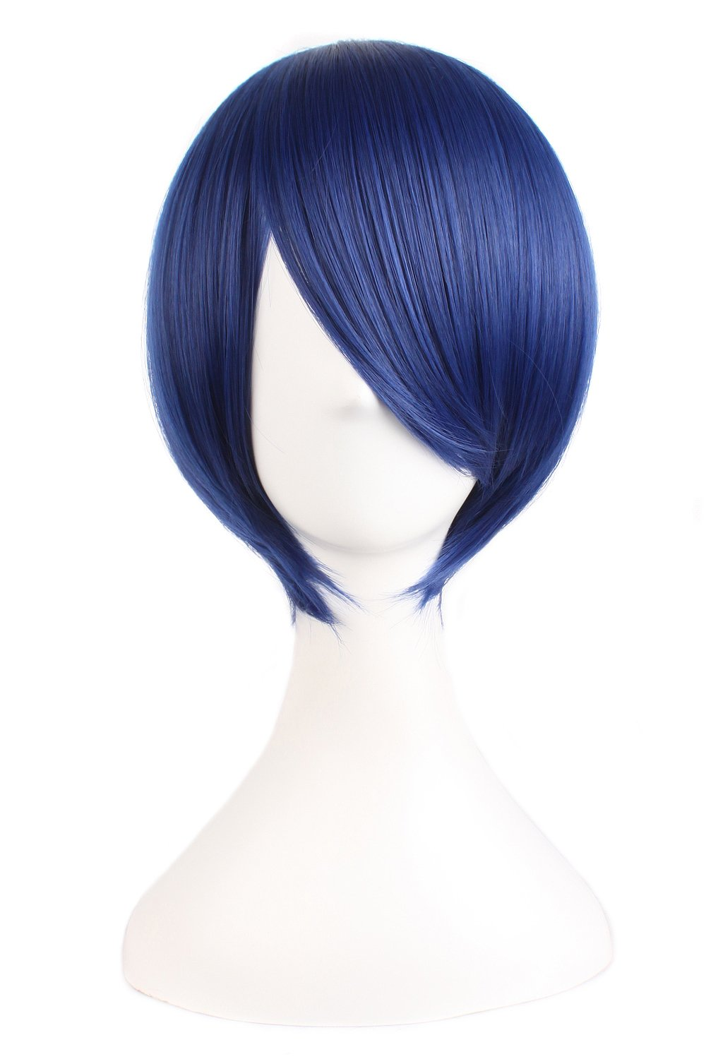 MapofBeauty 12''/30cm Short Straight Cosplay Costume Wig Party Wig (Mixed Blue) by MapofBeauty