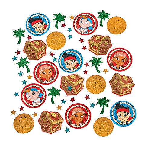 Fun Express - Jake Neverland Pirates Confetti (1.2oz) for Birthday - Party Supplies - Licensed Tableware - Misc Licensed Tableware - Birthday - 1 -