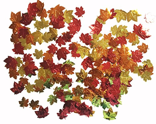 Forum Unisex-Adults Harvest Time Metallic Leaf Shaped Confetti 0.5 Oz Pack, Multi, Standard for $<!--$3.36-->