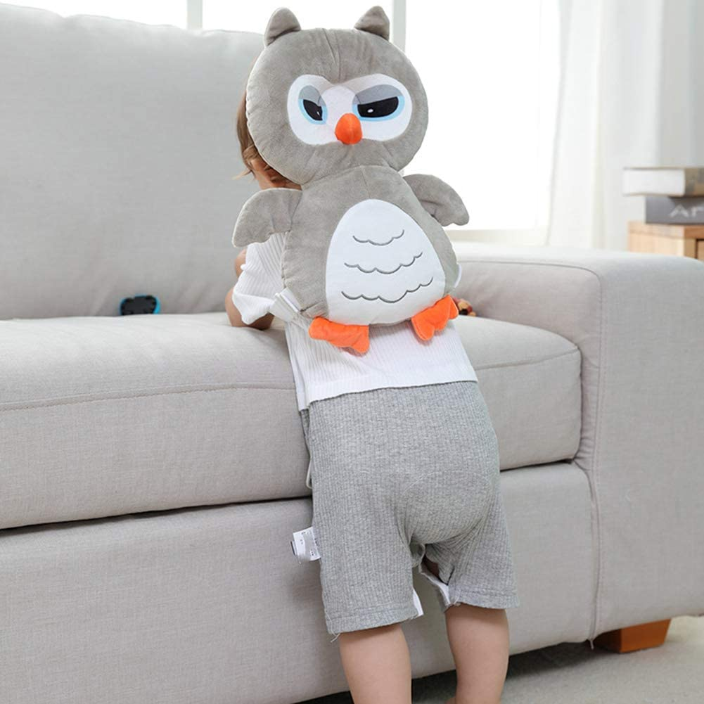 1PC Baby Pillow Cartoon Owl Shape Baby Toddler Pillow Anti-Flat Head Toddler Side Sleeping Pillow Headrest Baby Head Protection Pad