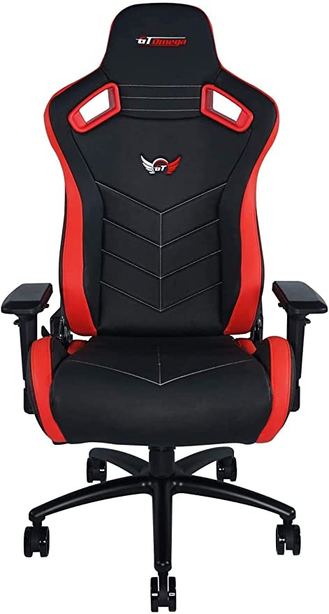 Amazon Com Gt Omega Sport Racing Gaming Chair With Ergonomic Lumbar Support Reclining High Back Home Office Desk Chair With Swivel Pvc Leather Esport Seat For Racing Console Experience Black Next