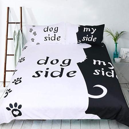 Copripiumino Lui E Lei.Sallypan Black White Bedding Set Del Gatto Cane Lui E Per Lei