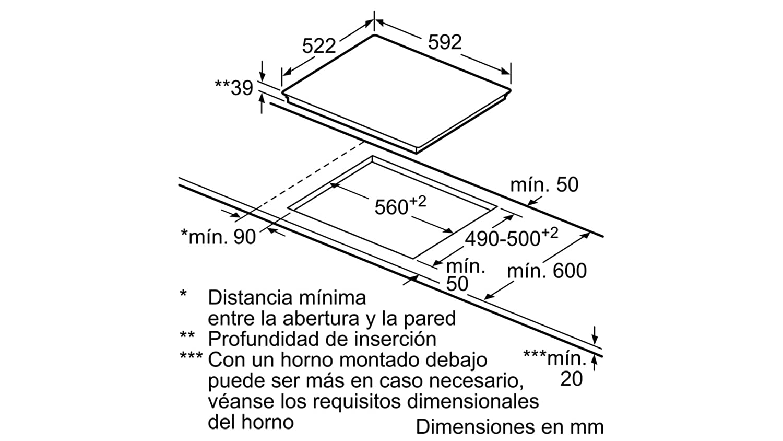 Balay - Placa vitrocerámica 3eb765lq con 3 zonas de cocción