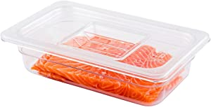 Met Lux Lid For 1/4 Size Food Pans, 1 Freezer-Safe Lid For Commercial Food Storage Container - Containers Sold Separately, For Kitchens, Restaurants, Or Cafeterias, Clear Plastic Lid For Cold Pans